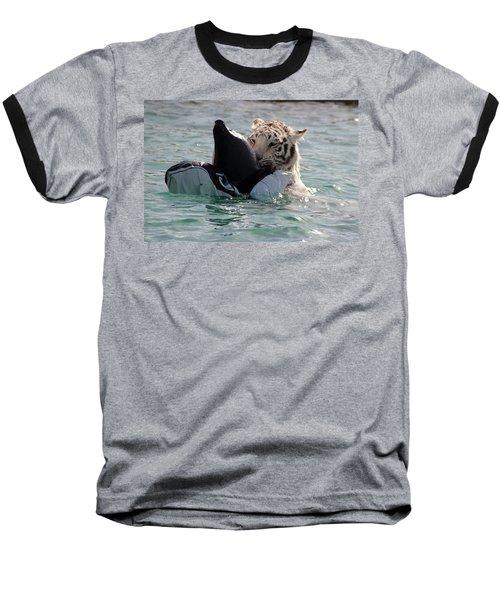 Out Of Africa Tiger Splash 4 Baseball T-Shirt