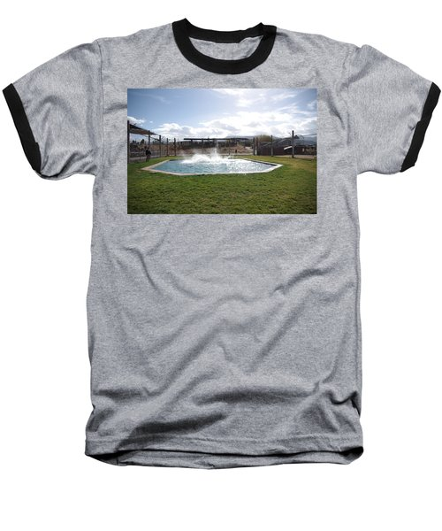 Out Of Africa Tiger Splash 9 Baseball T-Shirt