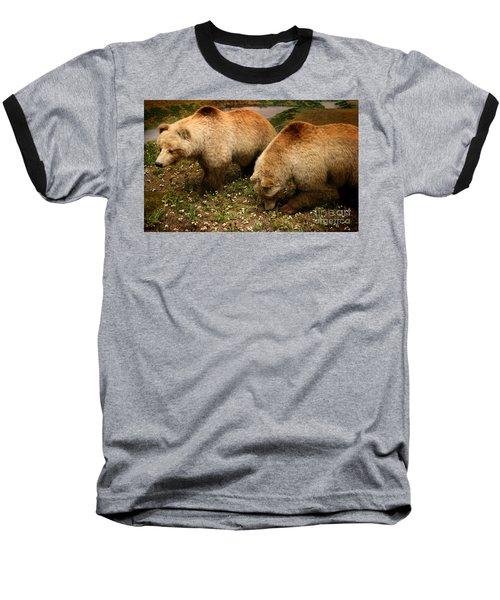 Out Of Hibernation Baseball T-Shirt by David Millenheft