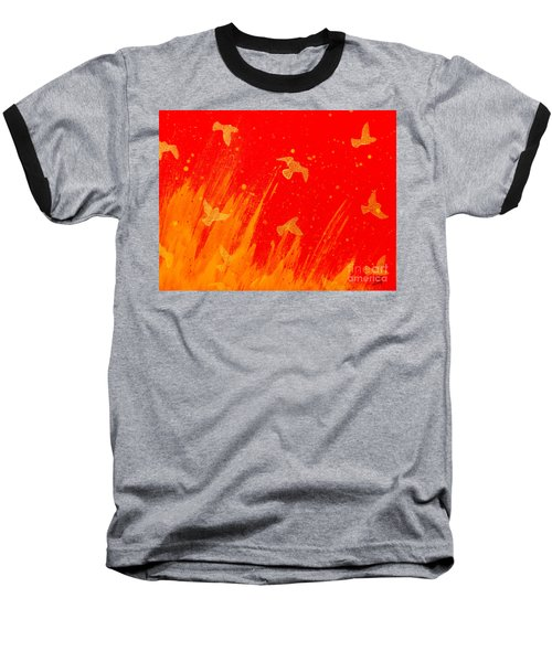 Out Of The Fire Baseball T-Shirt by Stefanie Forck