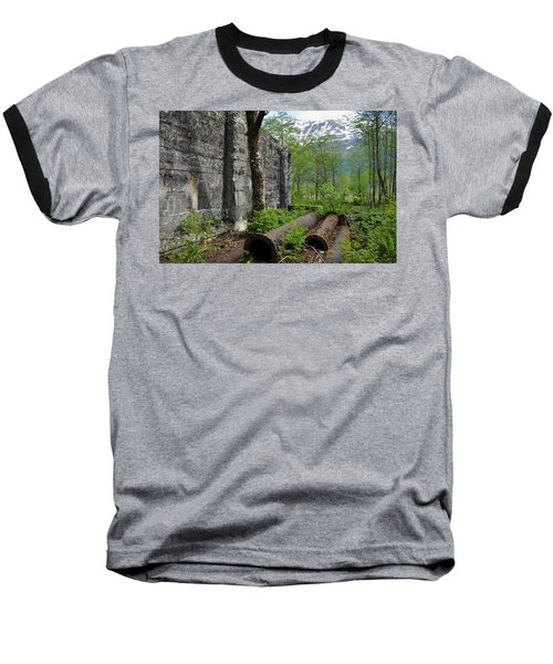 Baseball T-Shirt featuring the photograph Out From The Past by Cathy Mahnke