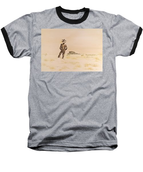 Baseball T-Shirt featuring the painting Out There by Michele Myers