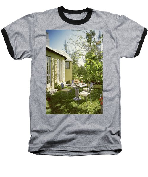 Outdoor Furniture At Shoreland House Baseball T-Shirt