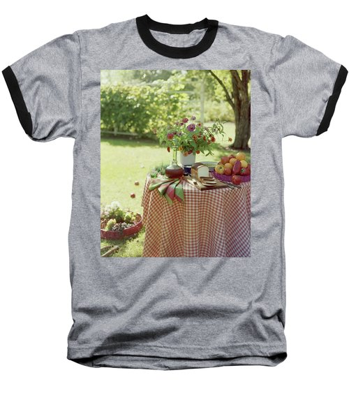 Outdoor Lunch In The Shade Of A Tree Baseball T-Shirt