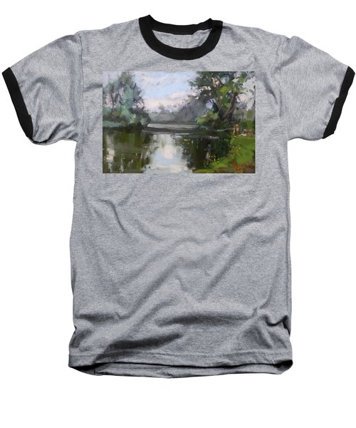 Outdoors At Hyde Park Baseball T-Shirt by Ylli Haruni