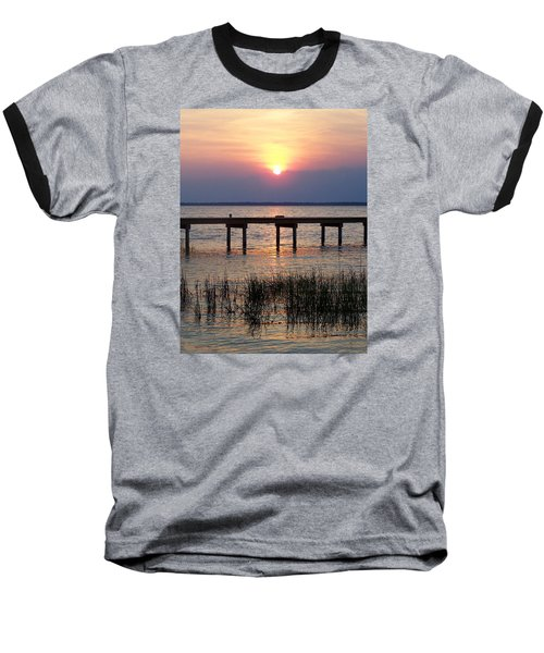 Baseball T-Shirt featuring the photograph Outerbanks Nc Sunset by Sandi OReilly