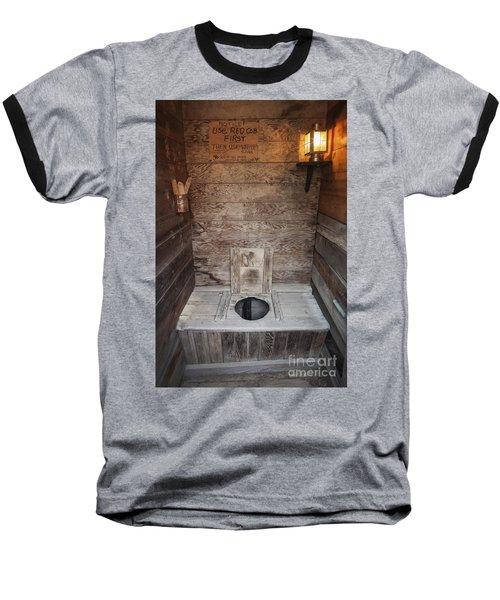 Outhouse Interior Baseball T-Shirt