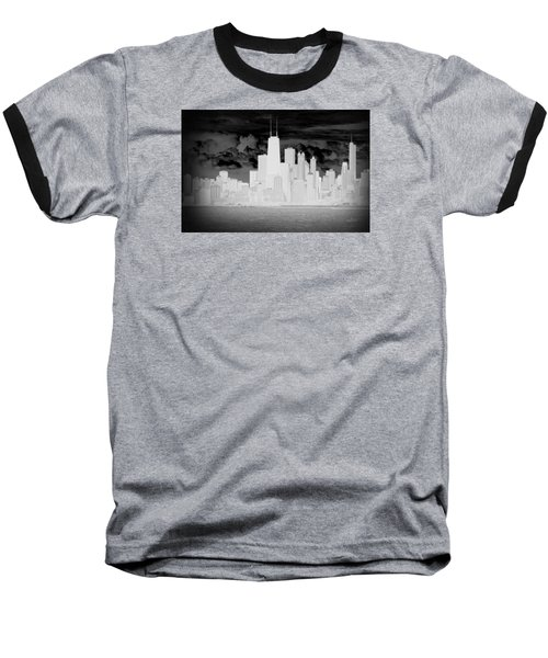 Baseball T-Shirt featuring the photograph Outline Of Chicago by Milena Ilieva