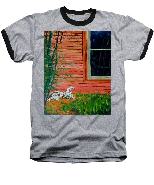 Outside The Artist's Studio Baseball T-Shirt