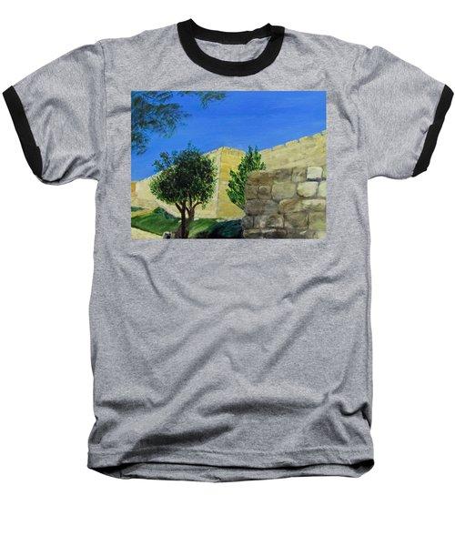 Outside The Wall - Jerusalem Baseball T-Shirt