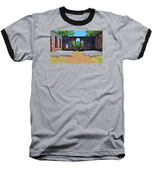 Outside Wedding Baseball T-Shirt by Cynthia Guinn