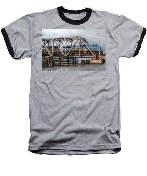 Over Pass Manchac Baseball T-Shirt by Charlotte Schafer