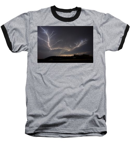 Baseball T-Shirt featuring the photograph Over The Lake by Charlotte Schafer