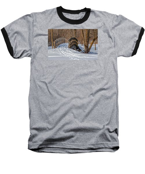 Over The River And Through The Woods Baseball T-Shirt by Susan  McMenamin