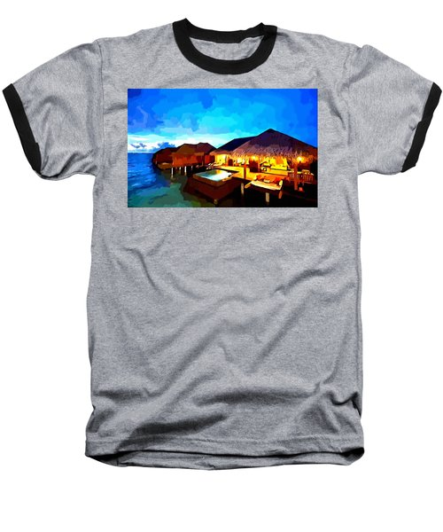 Over Water Bungalows Baseball T-Shirt