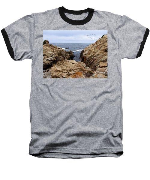 Overcast Day At Pebble Beach Baseball T-Shirt