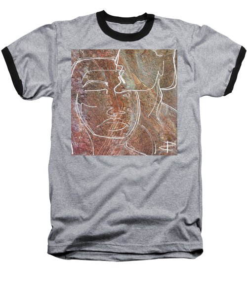Baseball T-Shirt featuring the drawing Overlaps II by Paul Davenport