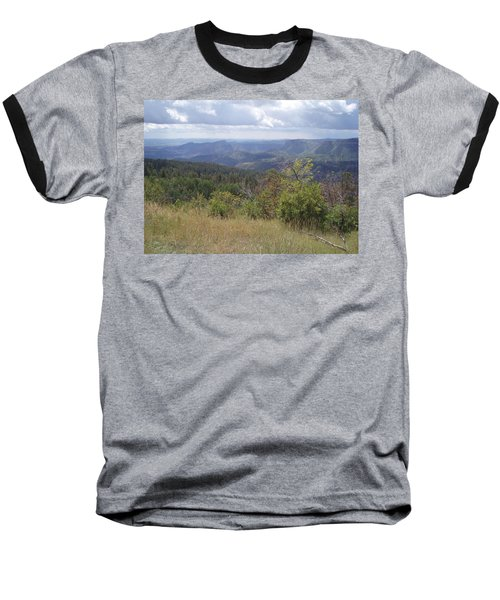 Baseball T-Shirt featuring the photograph Overlook Into The Mist by Fortunate Findings Shirley Dickerson