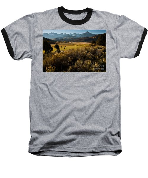 Overlook To Mt. Sneffles Baseball T-Shirt by Steven Reed