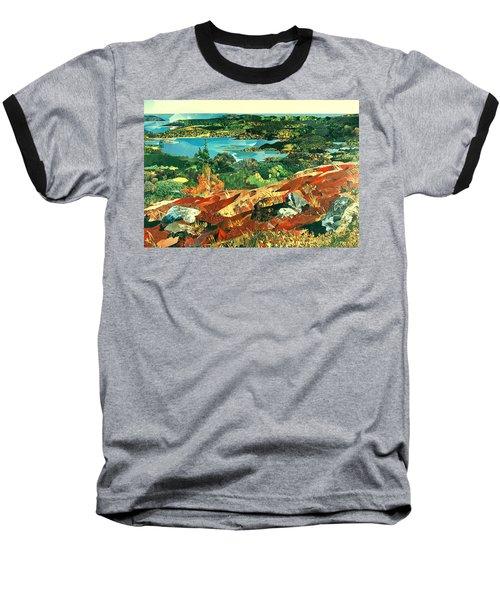 Overlooking The Bay Baseball T-Shirt by Robin Birrell