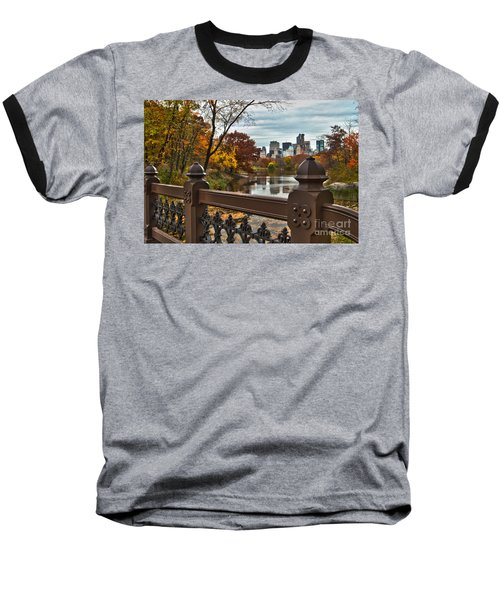 Overlooking The Lake Central Park New York City Baseball T-Shirt