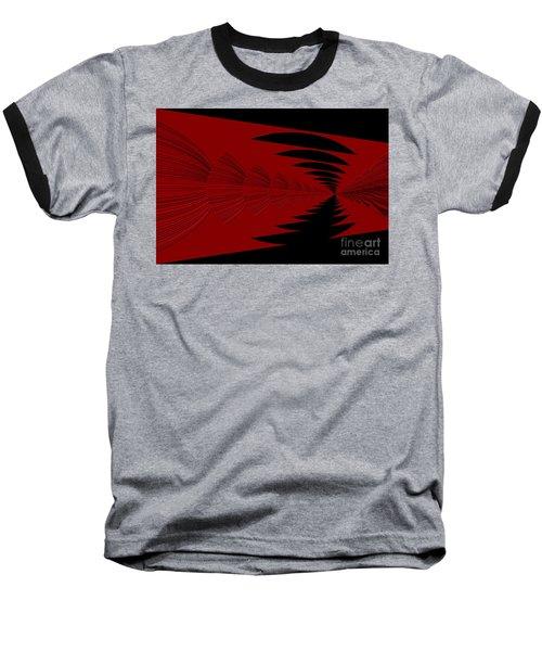 Red And Black Design Baseball T-Shirt