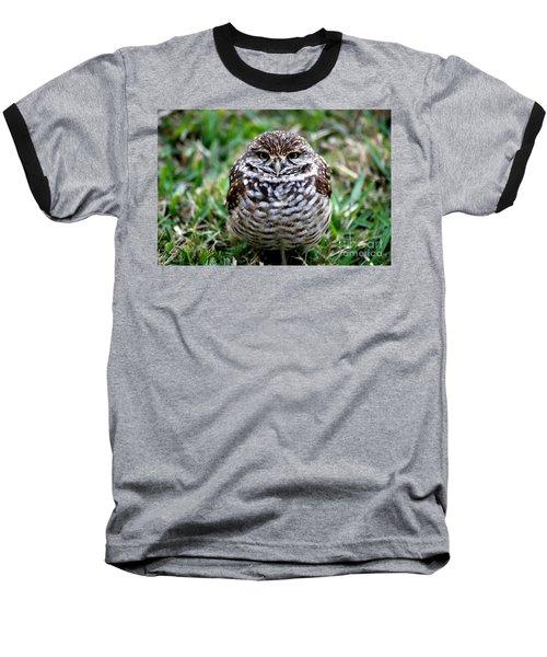 Owl. Best Photo Baseball T-Shirt by Oksana Semenchenko