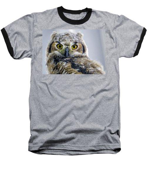 Owlet Close-up Baseball T-Shirt