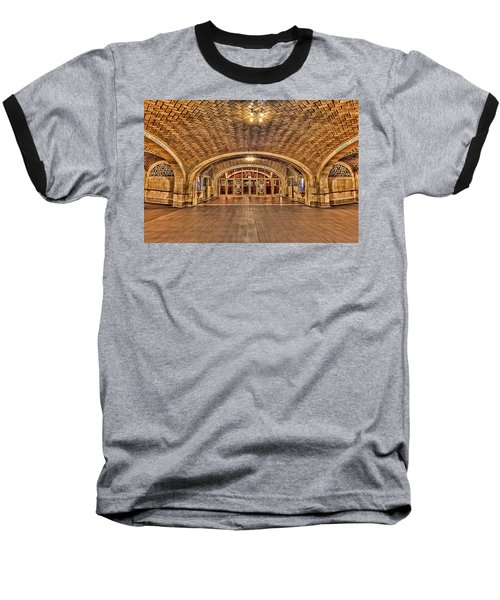 Oyster Bar Restaurant Baseball T-Shirt by Susan Candelario