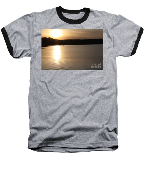 Baseball T-Shirt featuring the photograph Oyster Bay Sunset by John Telfer