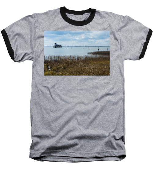 Oyster Shack And Tall Grass Baseball T-Shirt by Photographic Arts And Design Studio