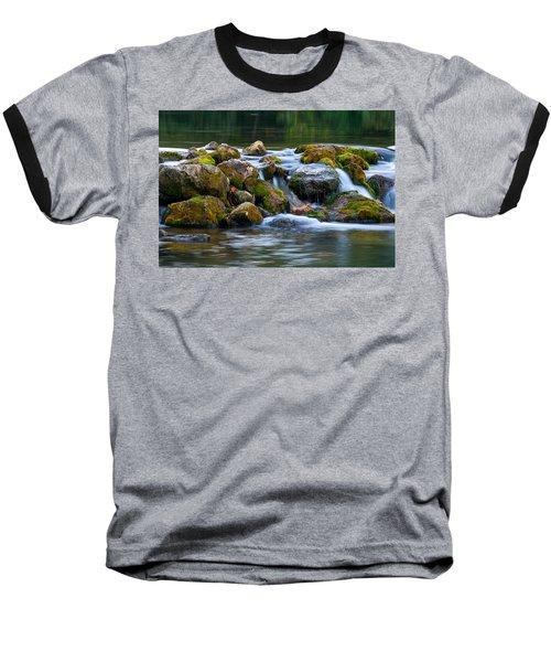 Ozark Waterfall Baseball T-Shirt by Steve Stuller