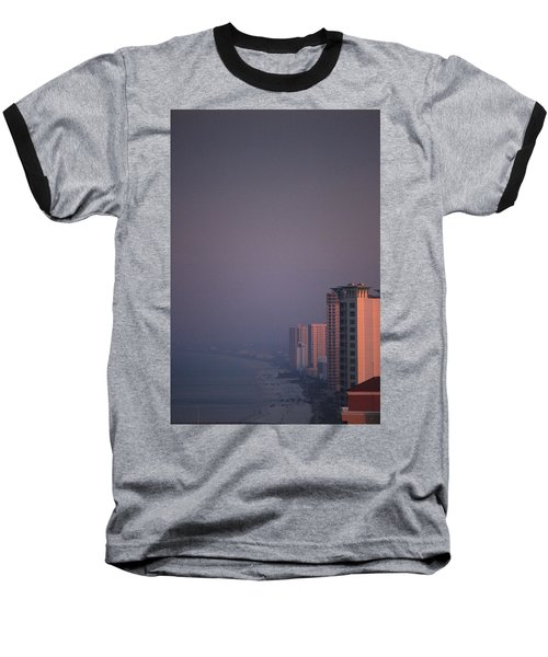 Panama City Beach In The Morning Mist Baseball T-Shirt