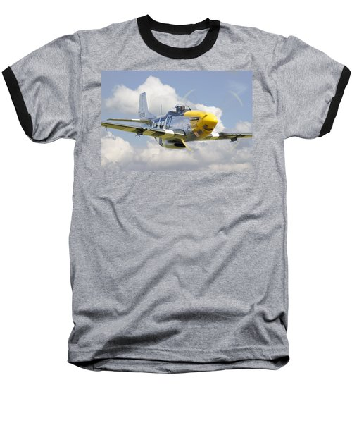 P51 Ferocious Frankie Baseball T-Shirt by Pat Speirs