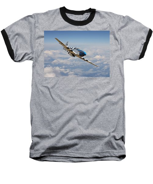 P51 Mustang - Symphony In Blue Baseball T-Shirt
