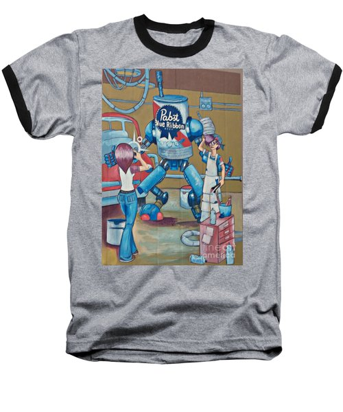 Pabst Mural In The Loop Baseball T-Shirt