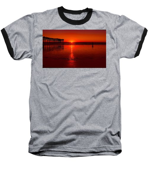 Pacific Beach Sunset Baseball T-Shirt