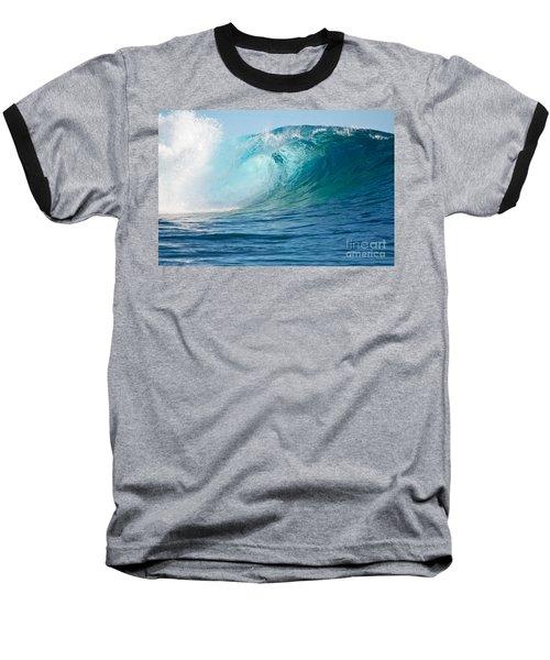 Pacific Big Wave Crashing Baseball T-Shirt by IPics Photography