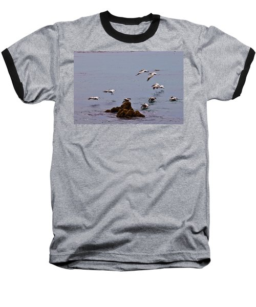 Pacific Landing Baseball T-Shirt by Melinda Ledsome