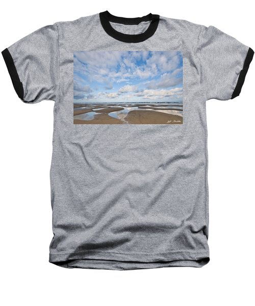 Pacific Ocean Beach At Low Tide Baseball T-Shirt
