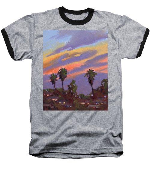 Pacific Sunset 1 Baseball T-Shirt