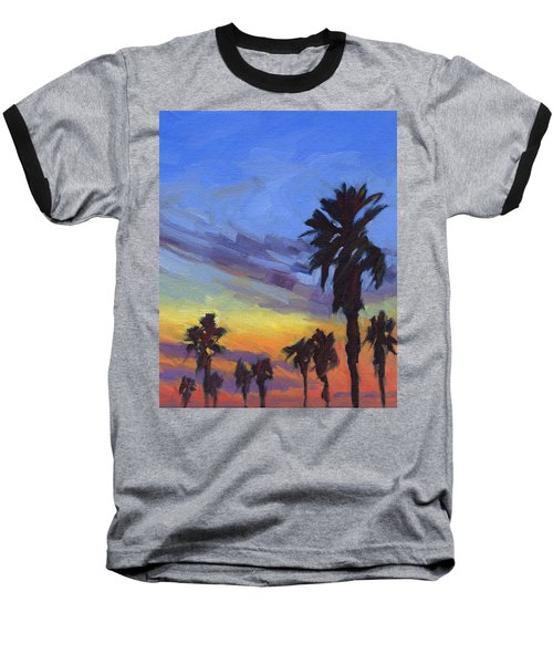 Pacific Sunset 2 Baseball T-Shirt