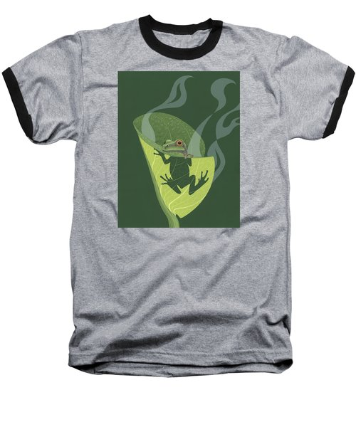 Pacific Tree Frog In Skunk Cabbage Baseball T-Shirt
