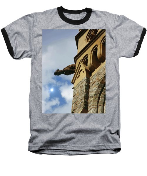 Packer Memorial Church Gargoyle Baseball T-Shirt