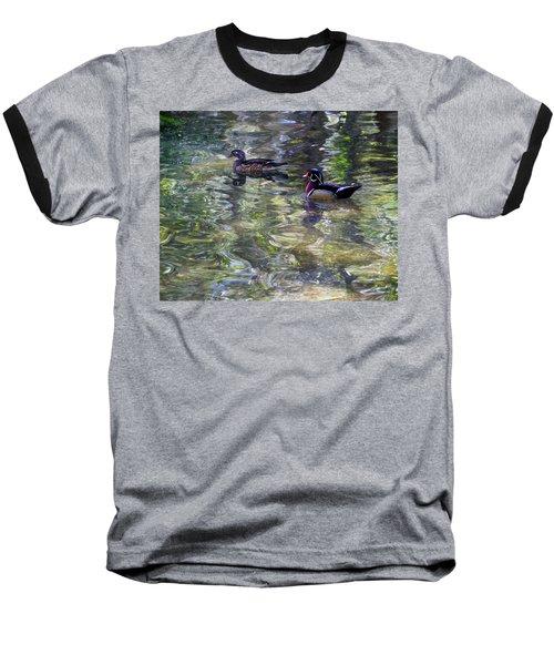 Paddling In A Monet Baseball T-Shirt
