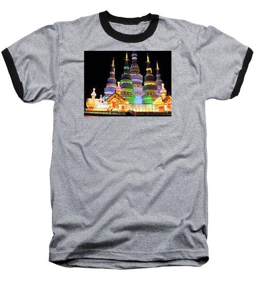 Pagoda Lantern Made With Porcelain Tableware Baseball T-Shirt