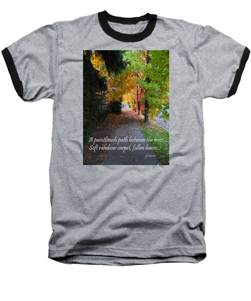 Paintbrush Path Baseball T-Shirt