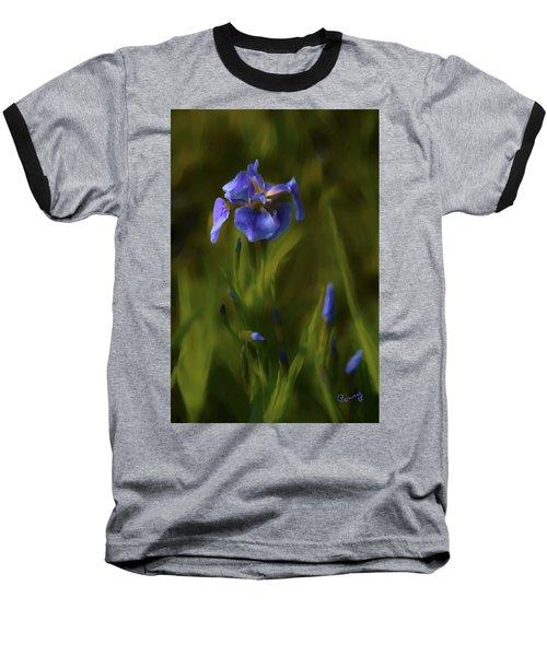Painted Alaskan Wild Irises Baseball T-Shirt