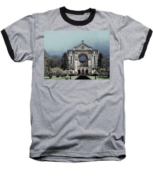 Baseball T-Shirt featuring the digital art Painted Basilica 2 by Teresa Zieba