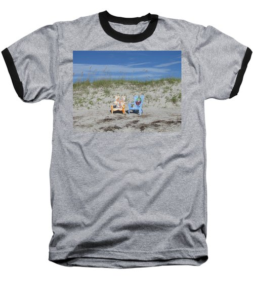 Painted Beach Chairs Baseball T-Shirt